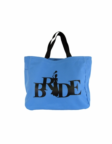 Bride Silhouette Tote Bag in Choice of Colors