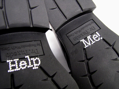 Help Me! Shoe Stickers - Rhinestone Shoe Decals