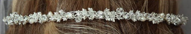 Crystal, Rhinestone and Pearl Band with Finished Sides 7013