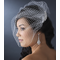 Bridal Birdcage Veil with Crystal and Rhinestone Comb