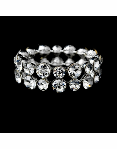 Stunning Double Row Crystal Bracelet