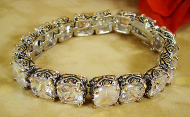 Designer Inspired Crystal Bracelet with AB Crystals