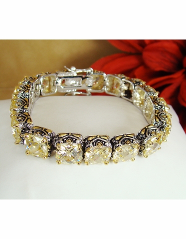 Designer Inspired Light Yellow Crystal Bracelet