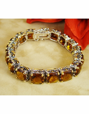 Designer Inspired Brown Crystal Bracelet