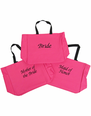 Personalized Wedding Party Tote Bags