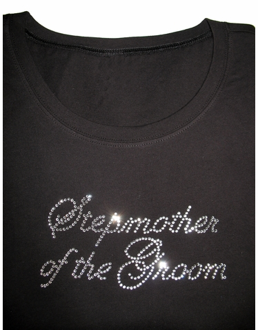 Stepmother of the Bride Crystal Tank - Stepmother of the Groom Rhinestone T-Shirt