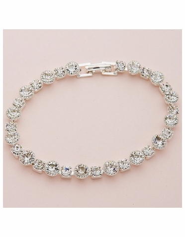 Silver Tiffany and Princess Crystal Bracelet
