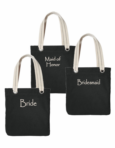 Personalized Tote Bags with Choice of Colors and Fonts