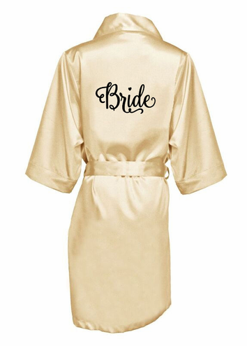 Printed Bridal Party Robes with Adorable Font!