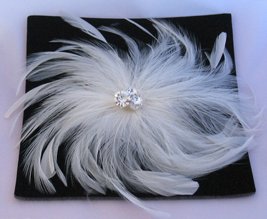 Cubic Zirconia Jewelry Collection Spiral Feather Hair Accessory