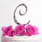 Wedding Cake Initial - Single Letter Crystal Cake Initial