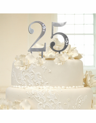 CLEARANCE: Swarovski Crystal Embellished Cake Top Numbers for Birthday or Anniversary