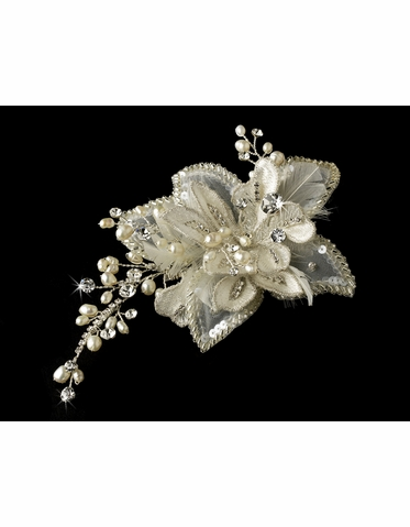 Crystal and Freshwater Hair Comb