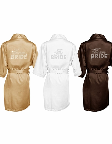 Rhinestone Big Bling Bride and Bridesmaid Robes