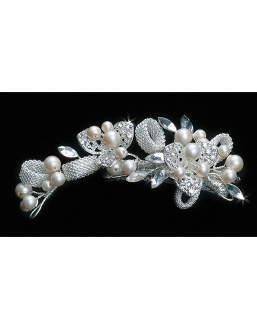 En Vogue Bridal Hair Comb with Mesh Chain Hardware HC1130