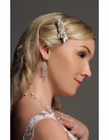 Hair Barrette: Bridal Barrette Covered With Pearls And Beads IBB002
