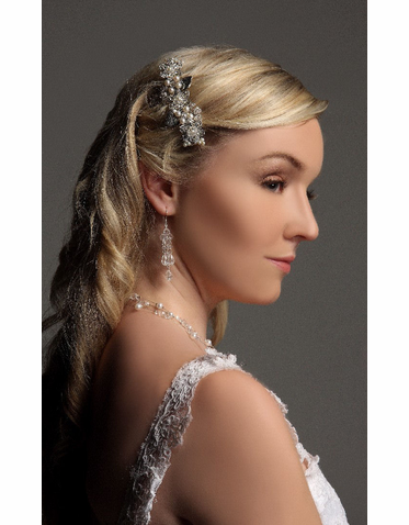 Hair Barrette: Floral Design Bridal Barrette IBB001