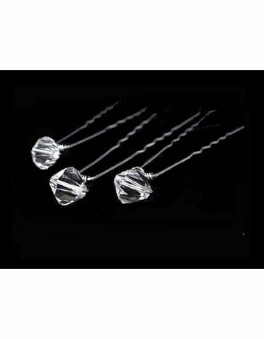 CLEARANCE: Crystal Bridal Hairpins - Set of 3 Hairpins