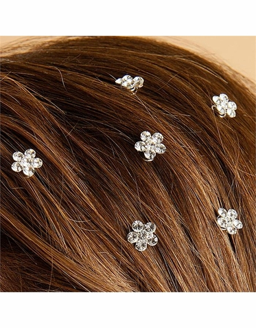 CLEARANCE: Twist In Crystal Flower Hair Jewels in Colors