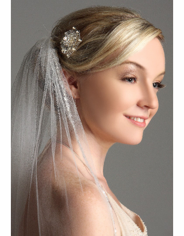 Bridal Floral Medallion Accented With Crystals ICB011