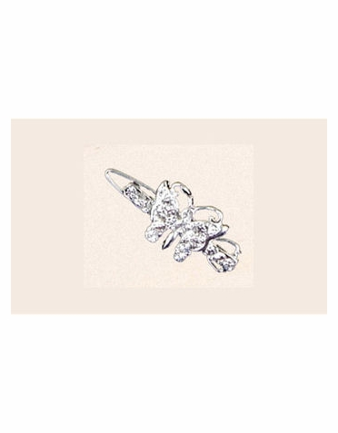Butterfly Series Set of Six Rhinestone Hair Clips BP56