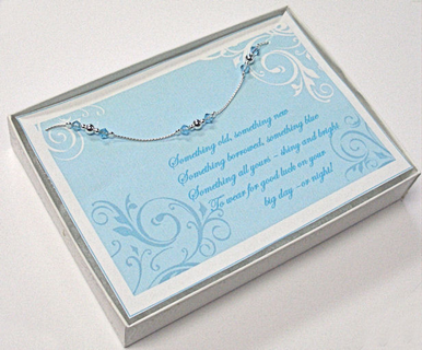 Something Blue Bridal Ankle Bracelet