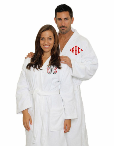 Monogrammed Bath Robes for Him or Her