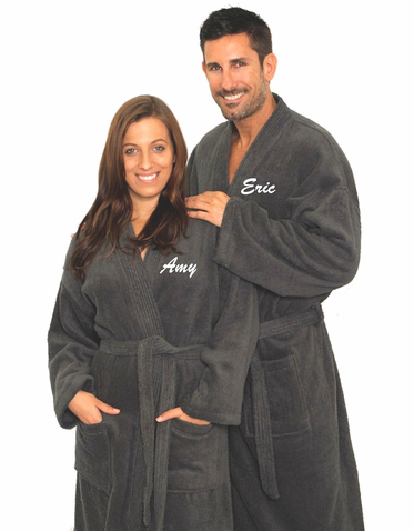 Monogrammed Terry Robe