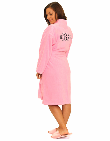 Monogrammed Terry Robe in - Plus Size Available