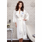 Long Satin Bridal Party Robe with Embroidered Title and Initial