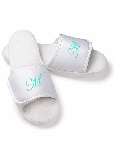 Personalized Slippers with Initial, Monogram, Name or Title