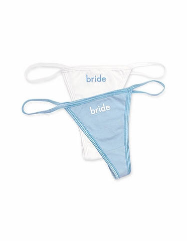 Embroidered Bride Thong