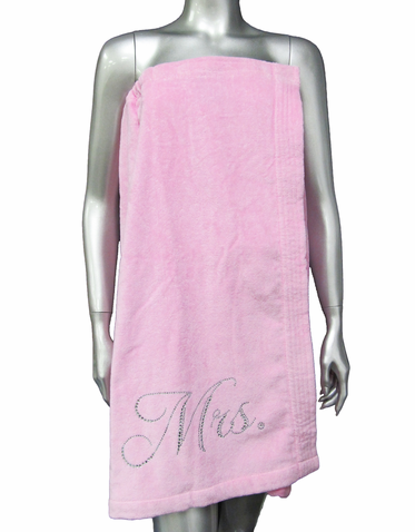 Rhinestone Bling Mrs. Spa Wrap in Gorgeous Colors