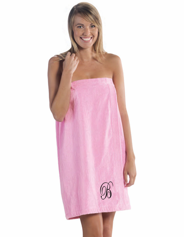 Personalized Spa Wrap in Terry Velour Colors - Personalized Bath Wrap