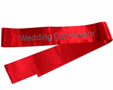 Custom Wedding Coordinator Rhinestone Sash