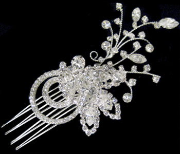 Wedding or Bridal Brooch or Hair Comb-305
