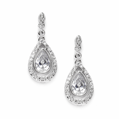 Gorgeous Zirconia Teardrop Earrings