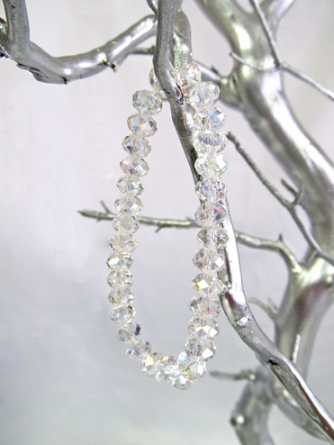 Clear Crystal Bead Bracelet