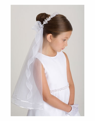 First Communion Veil and Wreath