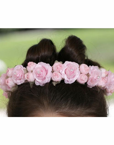 Flower Girl Hair Wreath in White, Ivory, Lilac or Pink