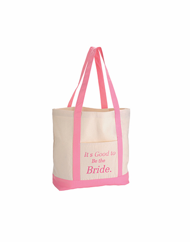 Its Good to Be the Bride Printed Canvas Tote