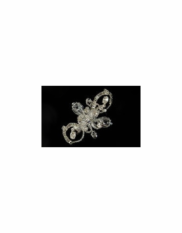 Hair Barrette: Cute Barrette with Beads and Crystals 8062