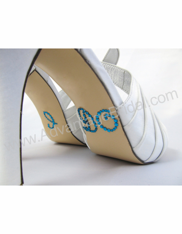 I Do Shoe Stickers for Wedding Shoes in Whimsical Font