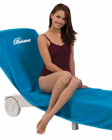 Personalized Lounge Chair Cover in Three Colors