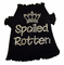 Rhinestone Spoiled Rotten Dog Tee with Crown