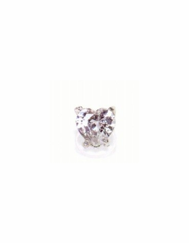 CLEARANCE: Cubic Zirconia Heart  Stretch IllusionToe Ring