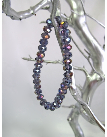 Purple Crystal Bead Bracelet
