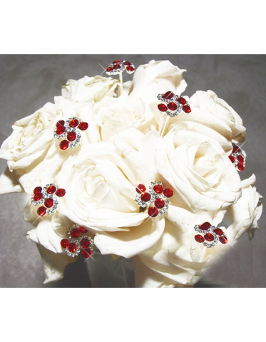 Red Crystal Bouquet Swirls