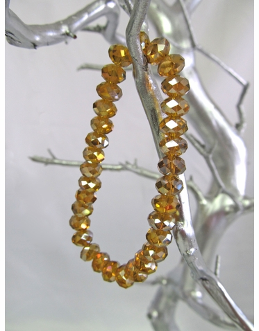 Gold Crystal Bead Bracelet