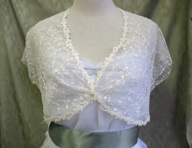 CLEARANCE: Claire Venice Edged Lace Bridal Shruglet - Bridal Wrap